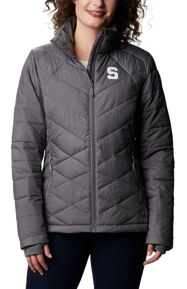 Columbia Women's Michigan State Spartans Grey Heavenly Full-Zip Vest product image