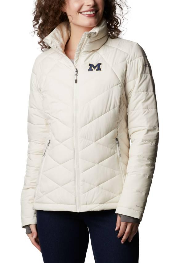 Columbia Women's Michigan Wolverines White Heavenly Full-Zip Jacket product image