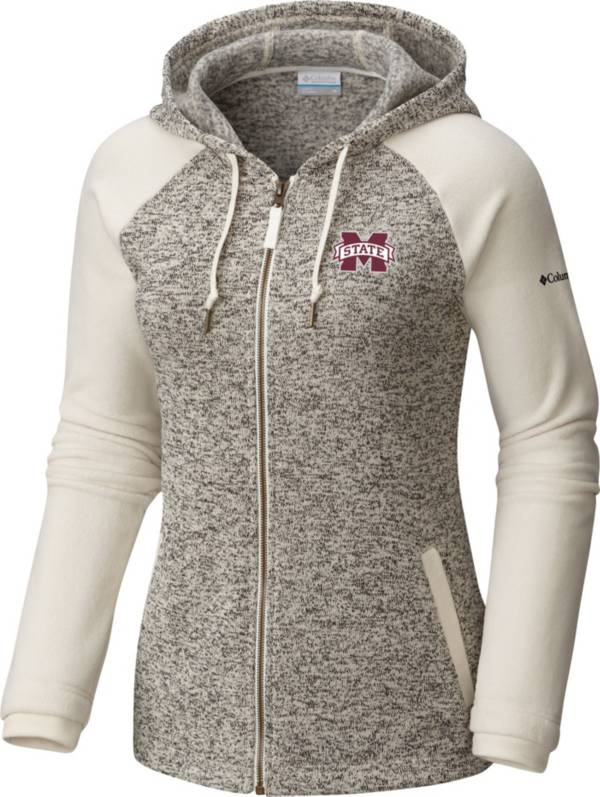 Columbia Women's Mississippi State Bulldogs Darling Days Full-Zip White Hoodie product image
