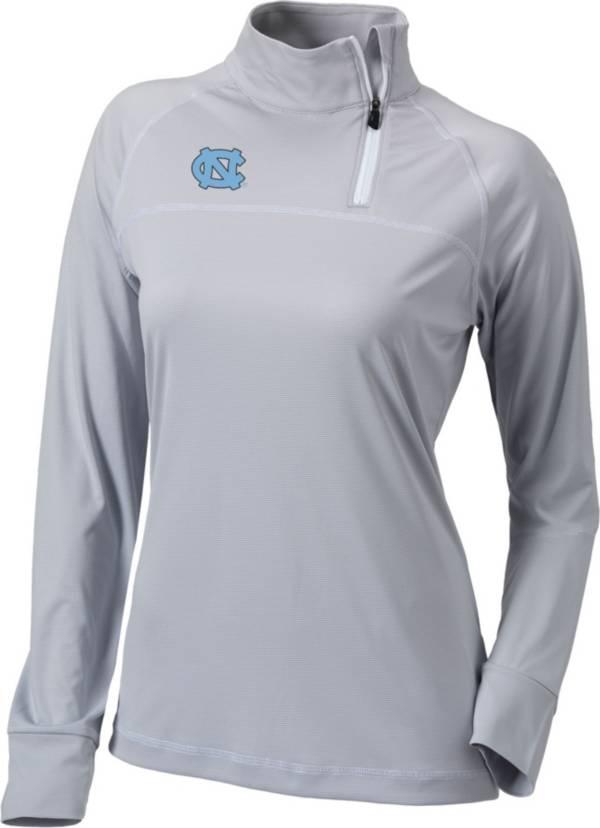Columbia Women's North Carolina Tar Heels Carolina Blue New Classic Quarter-Zip Pullover Shirt product image
