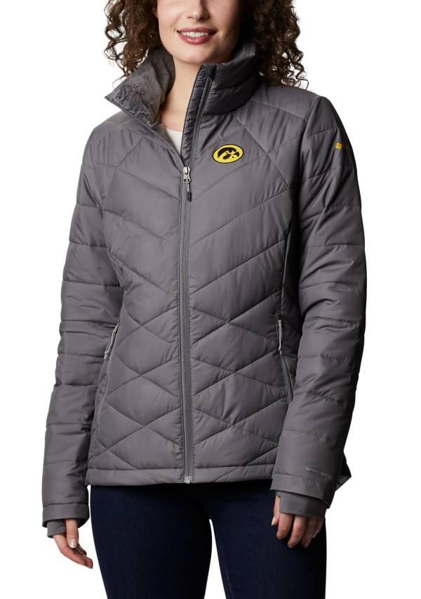 Columbia Women's Iowa Hawkeyes Grey Heavenly Full-Zip Jacket product image