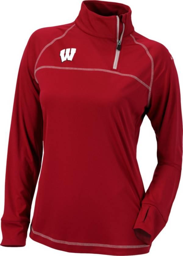 Columbia Women's Wisconsin Badgers Red New Classic Quarter-Zip Shirt product image