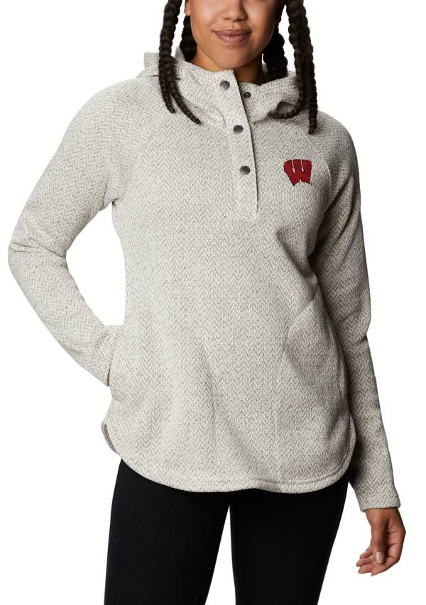 Columbia Women's Wisconsin Badgers Darling Days Full-Zip White Hoodie product image