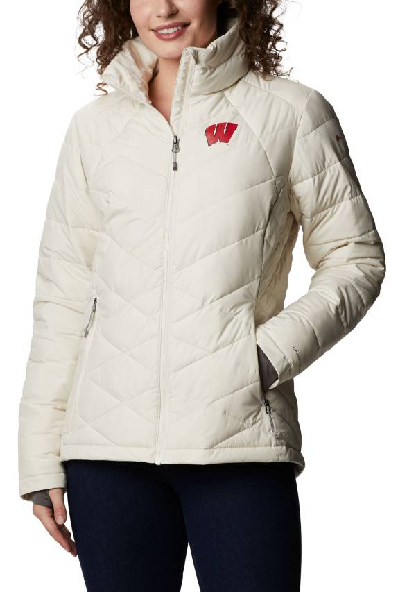 Columbia Women's Wisconsin Badgers White Heavenly Full-Zip Jacket product image