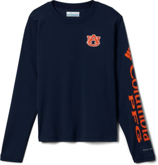 Columbia Youth Auburn Tigers Blue Terminal Tackle Long Sleeve T-Shirt product image