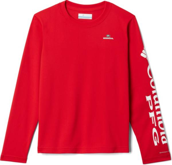 Columbia Youth Georgia Bulldogs Red Terminal Tackle Long Sleeve T-Shirt product image