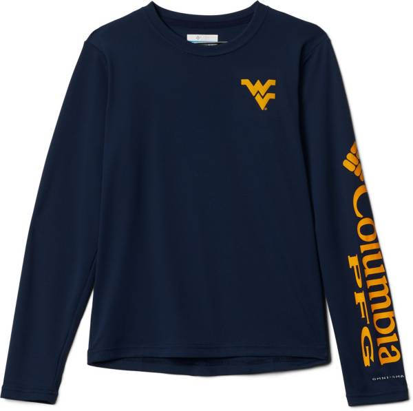 Columbia Youth West Virginia Mountaineers Blue Terminal Tackle Long Sleeve T-Shirt product image