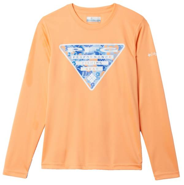 Columbia Boys' Terminal Tackle Triangle Fill Long Sleeve Fishing Shirt product image