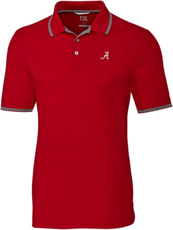 Cutter & Buck Men's Alabama Crimson Tide Crimson Advantage Tipped Polo product image
