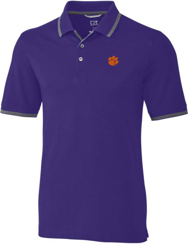 Cutter & Buck Men's Clemson Tigers Regalia Advantage Tipped Polo product image