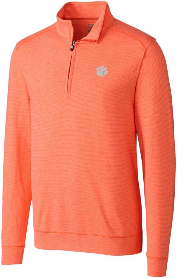 Cutter & Buck Men's Clemson Tigers Orange Shoreline Half-Zip Shirt product image