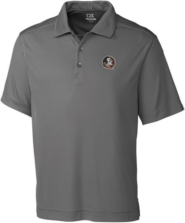 Cutter & Buck Men's Florida State Seminoles Grey Northgate Polo product image
