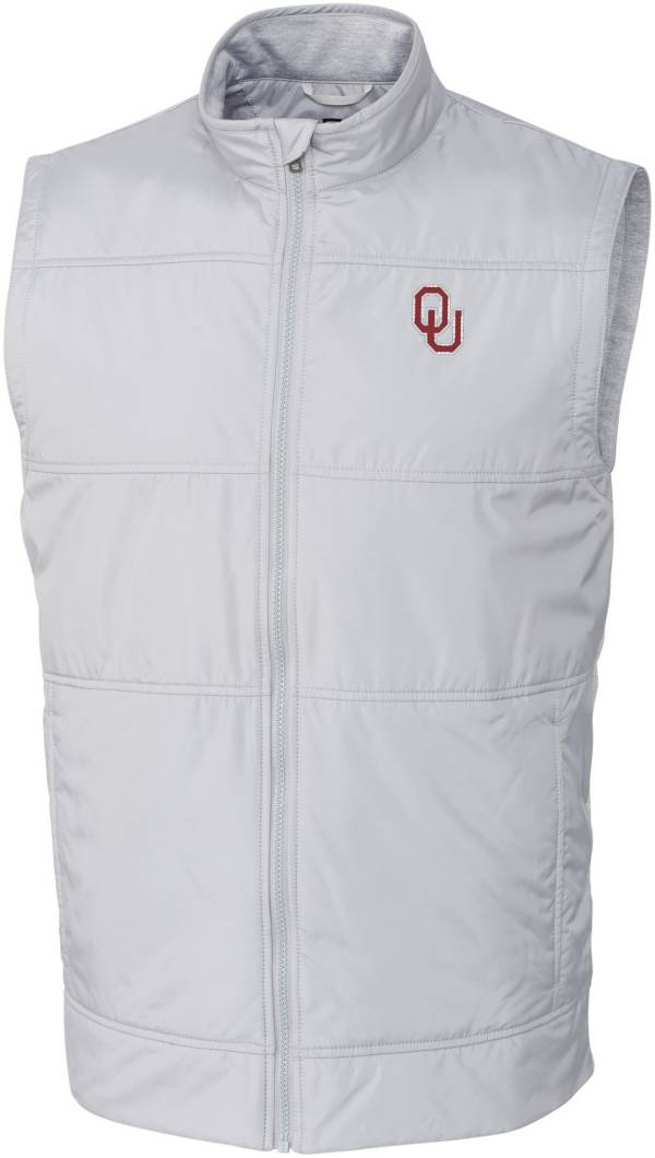 Cutter & Buck Men's Oklahoma Sooners Grey Stealth Full-Zip Vest product image