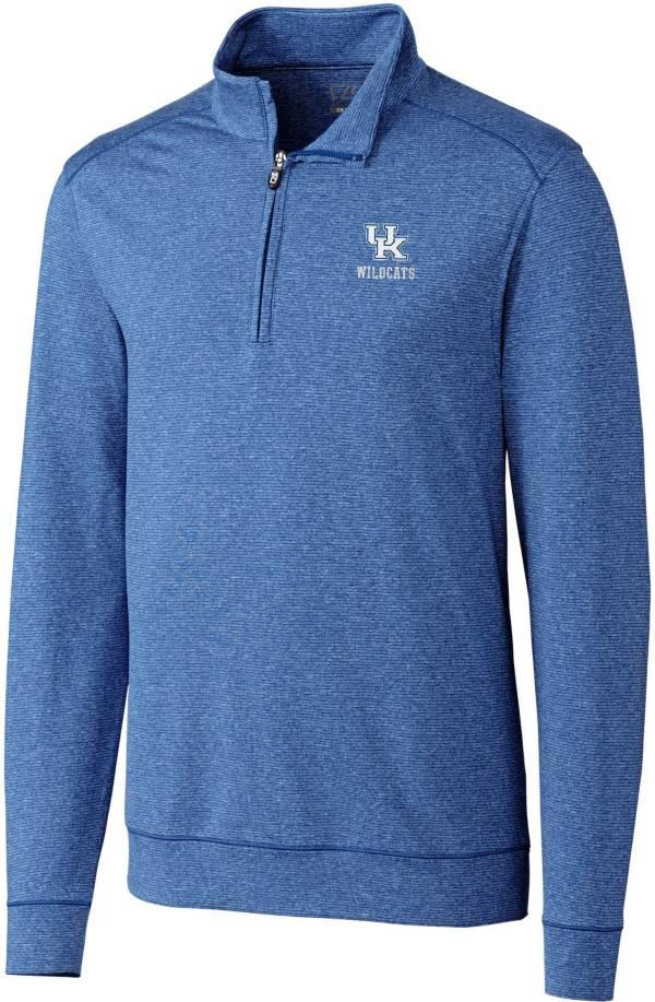Cutter & Buck Men's Kentucky Wildcats Blue Shoreline Half-Zip Pullover Shirt product image