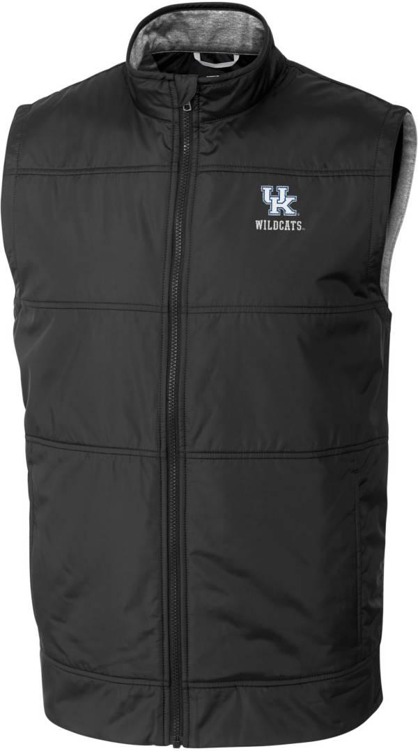 Cutter & Buck Men's Kentucky Wildcats Stealth Full-Zip Black Vest product image