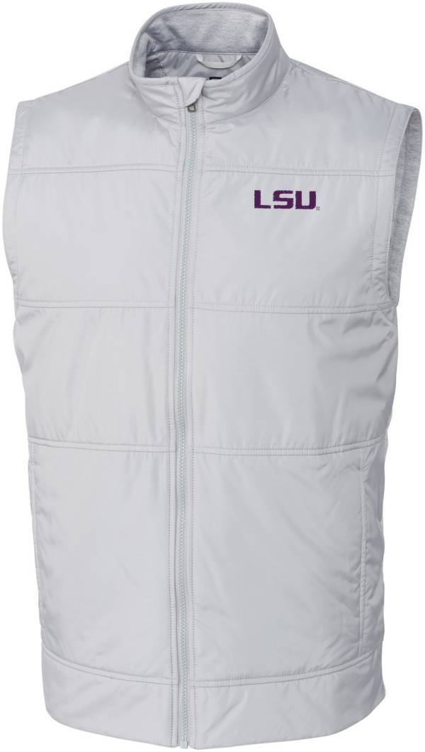 Cutter & Buck Men's LSU Tigers Grey Stealth Full-Zip Vest product image