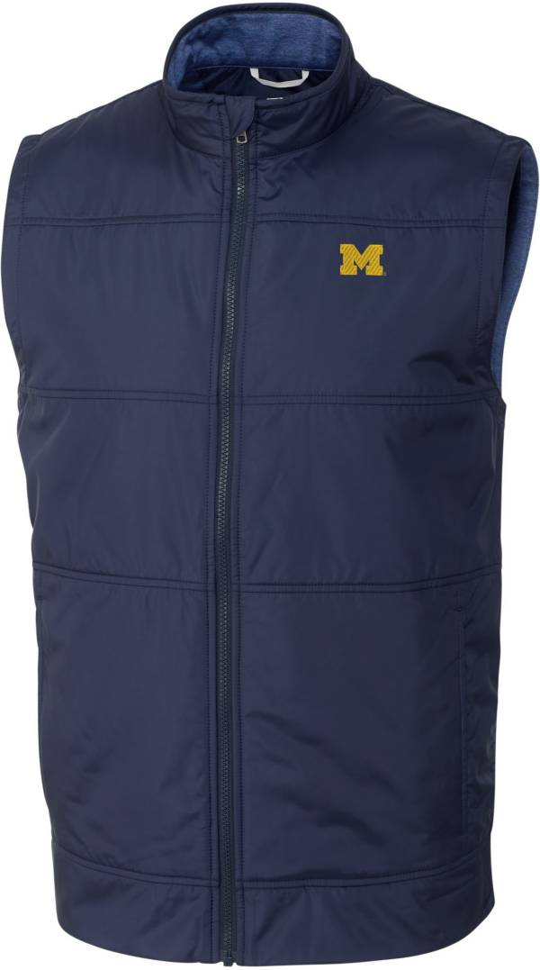 Cutter & Buck Men's Michigan Wolverines Blue Stealth Full-Zip Vest product image