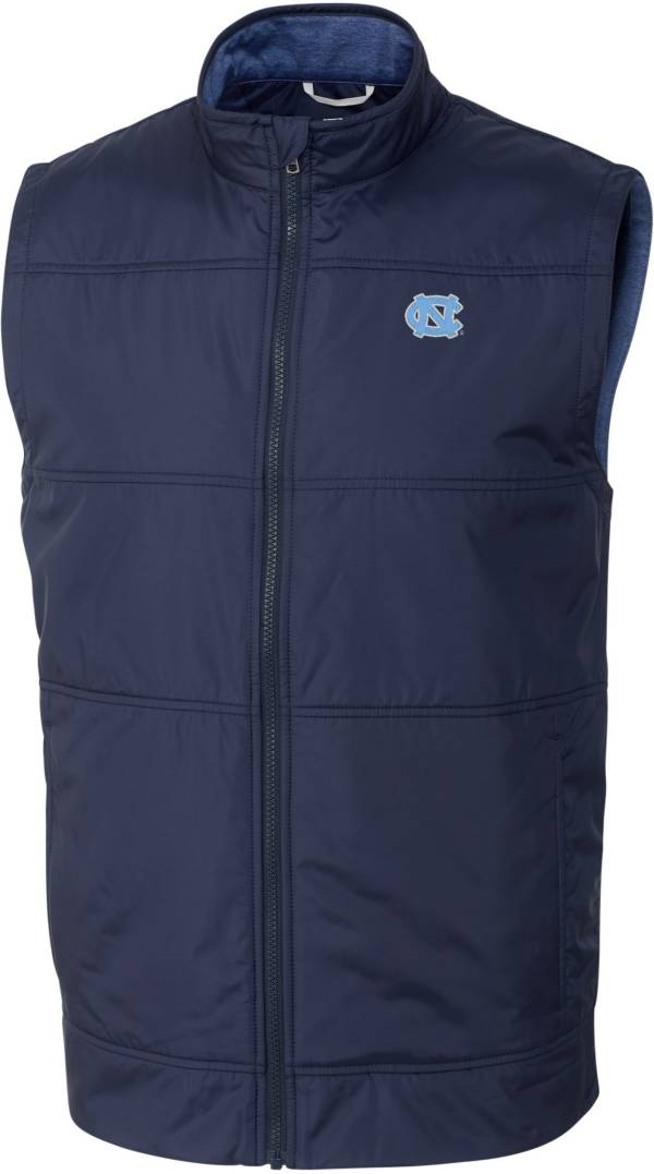 Cutter & Buck Men's North Carolina Tar Heels Navy Stealth Full-Zip Vest product image