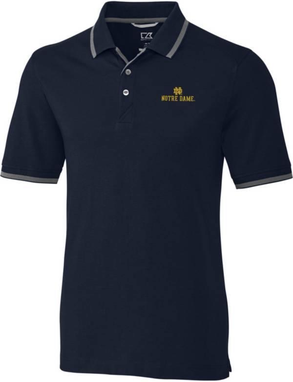 Cutter & Buck Men's Notre Dame Fighting Irish Navy Advantage Tipped Polo product image