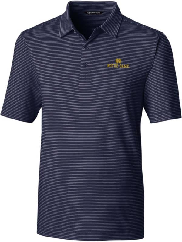 Cutter & Buck Men's Notre Dame Fighting Irish Navy Forge Pencil Stripe Polo product image