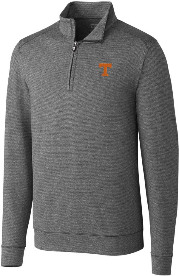 Cutter & Buck Men's Tennessee Volunteers Grey Shoreline Half-Zip Shirt product image