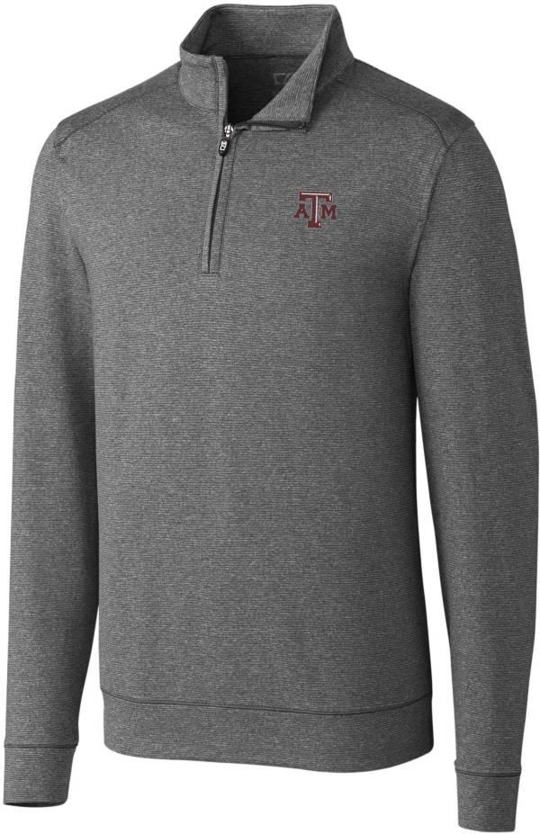Cutter & Buck Men's Texas A&M Aggies Grey Shoreline Half-Zip Shirt product image