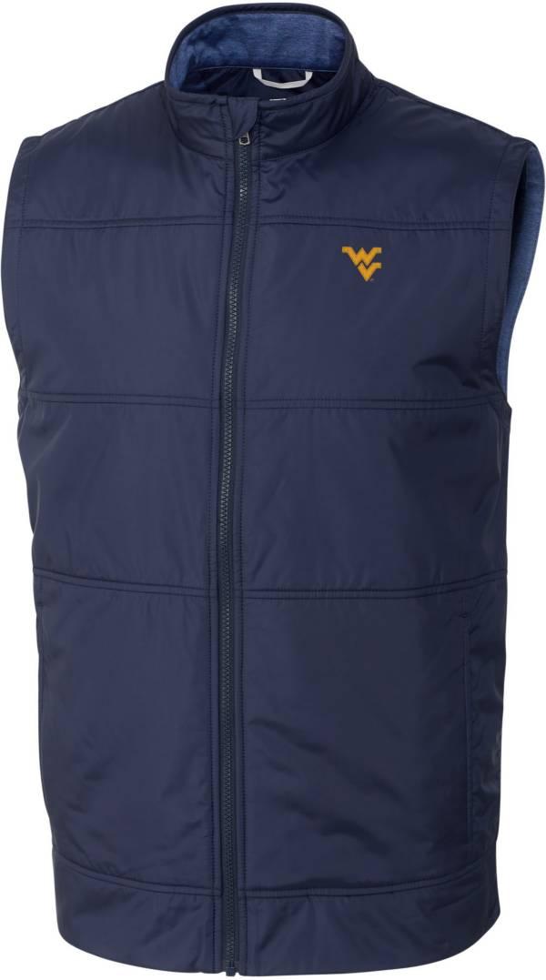 Cutter & Buck Men's West Virginia Mountaineers Blue Stealth Full-Zip Vest product image