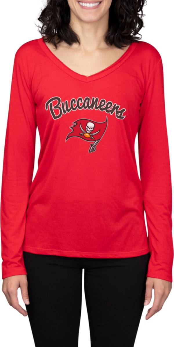 Concepts Sport Women's Tampa Bay Buccaneers Marathon Red Long Sleeve T-Shirt product image