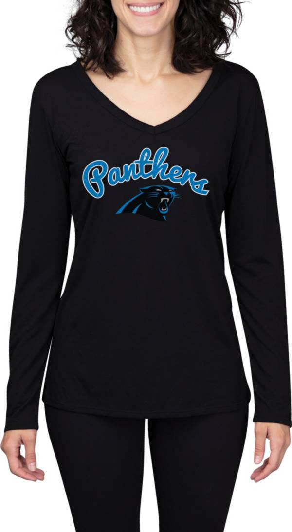 Concepts Sport Women's Carolina Panthers Marathon Black Long Sleeve Shirt product image