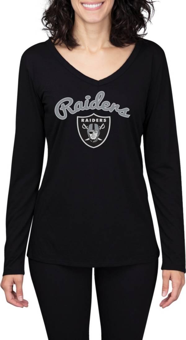 Concepts Sport Women's Las Vegas Raiders Marathon Black Long Sleeve T-Shirt product image