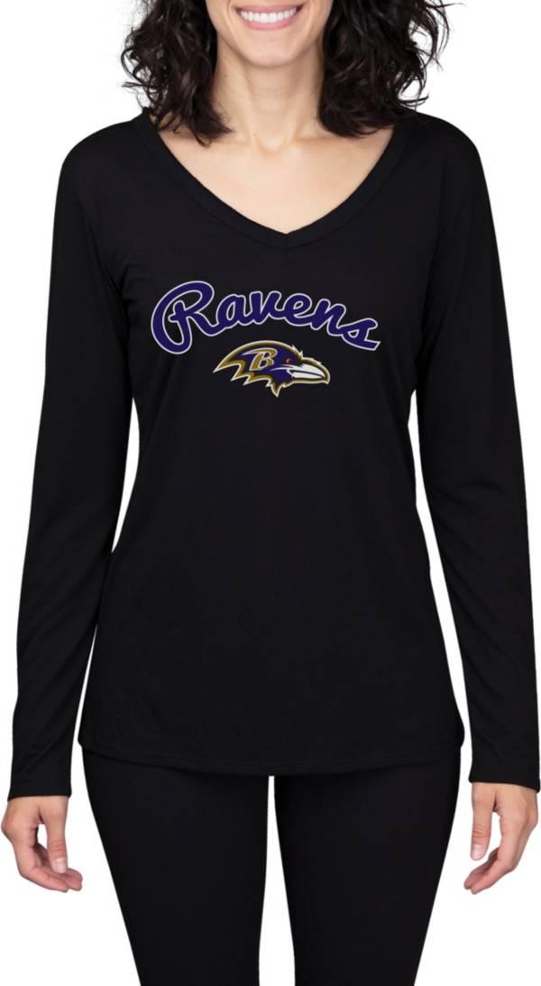 Concepts Sport Women's Baltimore Ravens Marathon Black Long Sleeve T-Shirt product image