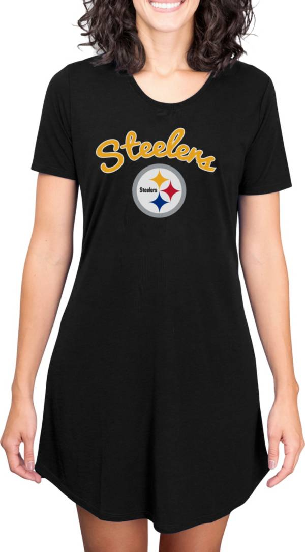 Concepts Sport Women's Pittsburgh Steelers Black Nightshirt product image