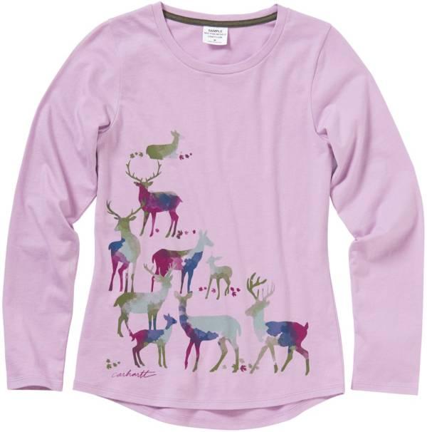 Carhartt Girls' Long Sleeve Watercolor Deer T-Shirt product image