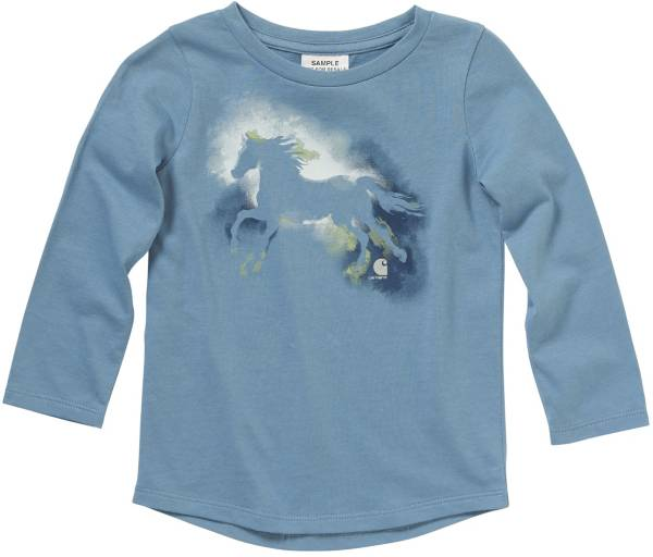 Carhartt Toddler Girls' Long Sleeve Watercolor Horse T-Shirt product image