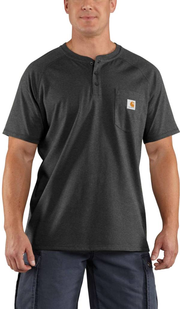 Carhartt Men's Force Cotton Delmont Short Sleeve Henley Shirt (Regular and Big & Tall) product image