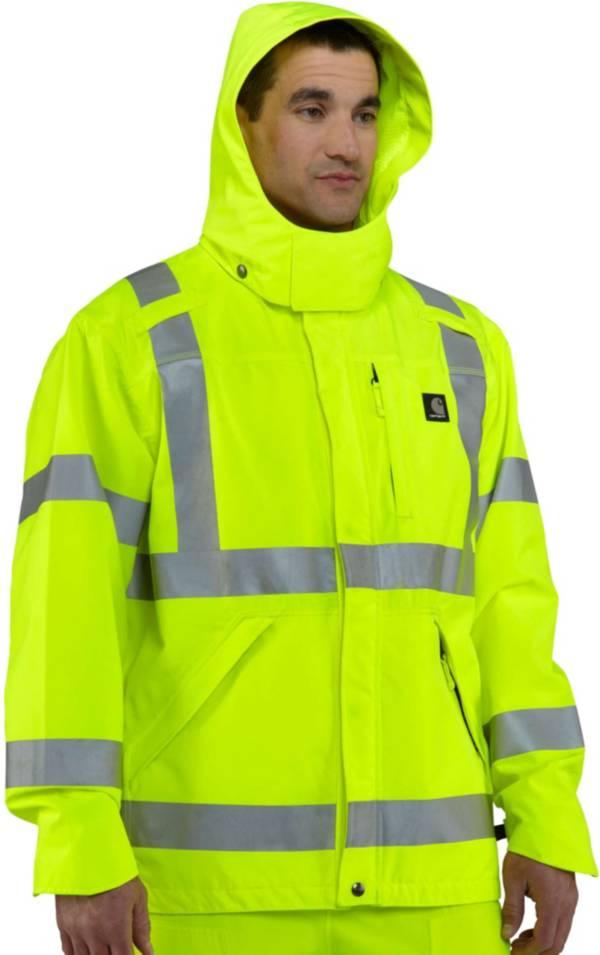 Carhartt Men's High Visibility Class 3 Waterproof Jacket (Regular and Big & Tall) product image