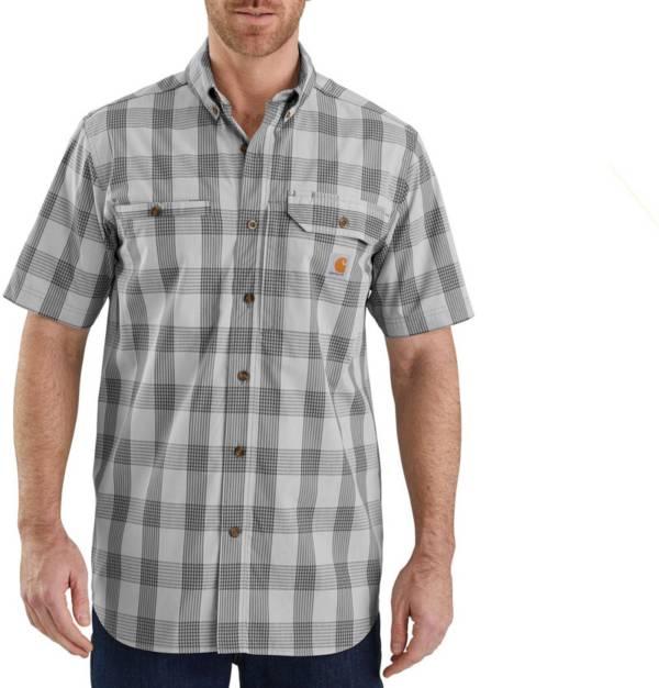 Carhartt Men's Plaid Force Ridgefield Short Sleeve Button Down Shirt product image