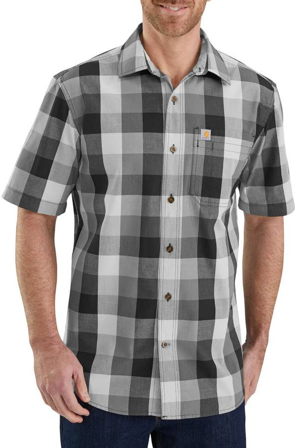 Carhartt Men's Essential Plaid Open Collar Short Sleeve Shirt product image