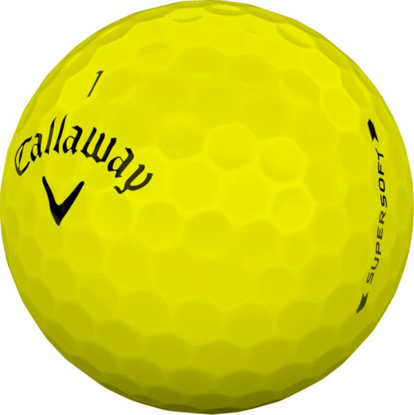 Callaway 2019 Supersoft Yellow Personalized Golf Balls product image