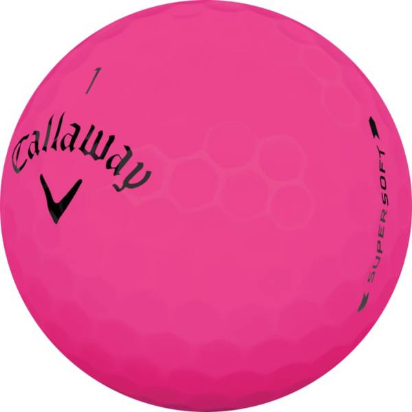 Callaway 2019 Supersoft Matte Pink Personalized Golf Balls product image