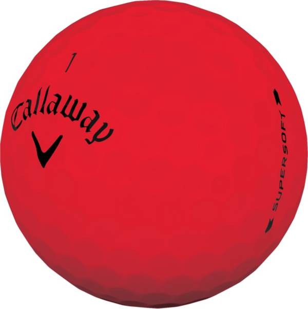 Callaway 2019 Supersoft Matte Red Personalized Golf Balls product image