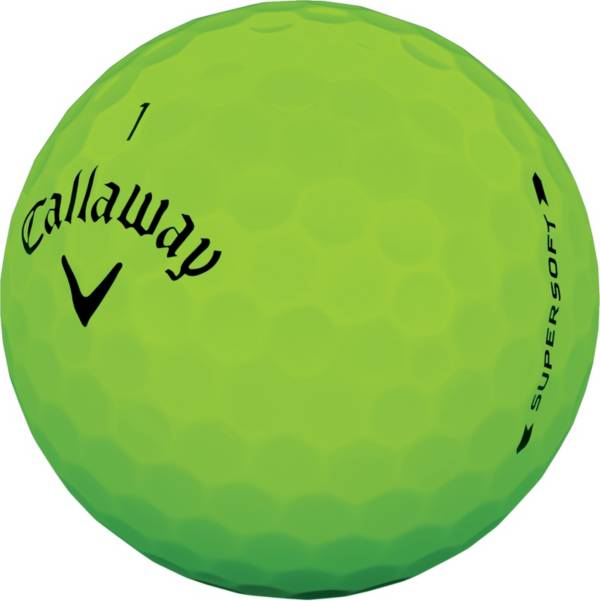 Callaway 2019 Supersoft Matte Green Personalized Golf Balls product image