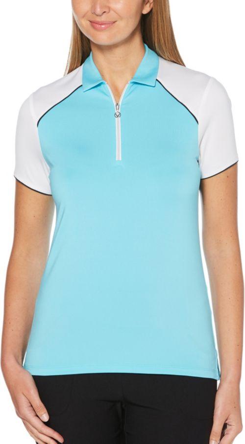 28564c3c Callaway Women's 1/4 Zip Color Block Golf Polo | DICK'S Sporting Goods