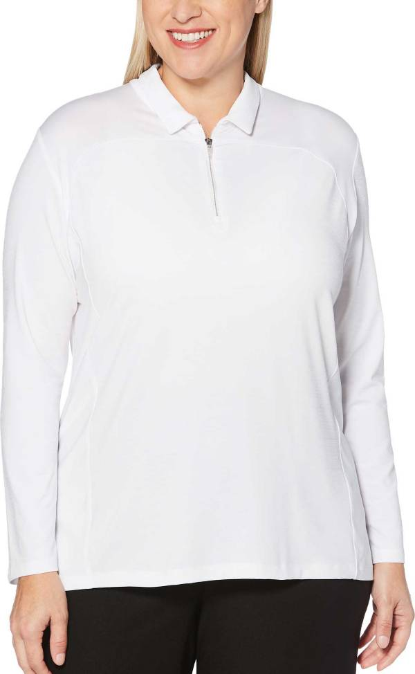 Callaway Women's ¼-Zip Long Sleeve Golf Polo - Extended Sizes product image