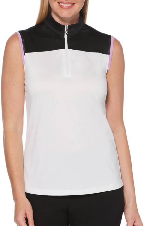 Callaway Women's Color Block Sleeveless Golf Polo product image