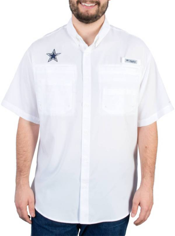 Columbia Men's Dallas Cowboys Tamiami White Button Up Shirt product image