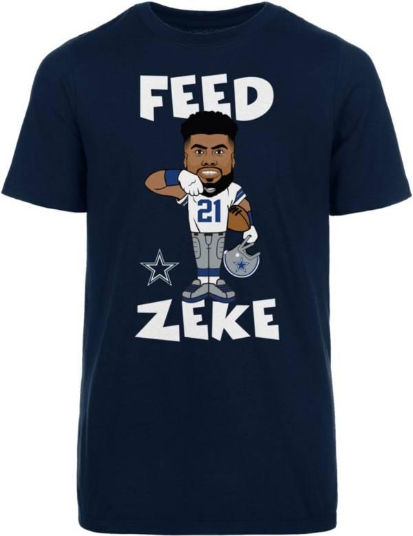 Dallas Cowboys Merchandising Youth Feed Zeke Navy T-Shirt product image