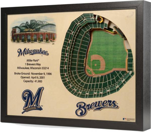 You the Fan Milwaukee Brewers 25-Layer StadiumViews 3D Wall Art product image
