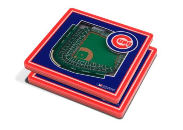 You the Fan Chicago Cubs 3D Stadium Views Coaster Set product image