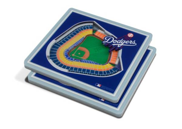 You the Fan Los Angeles Dodgers 3D Stadium Views Coaster Set product image